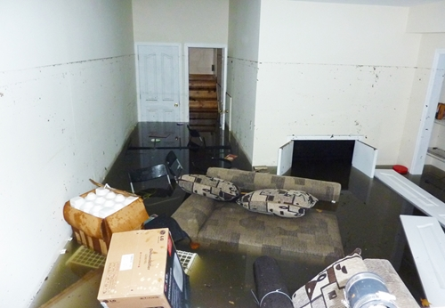 Flood insurance through covers most damage to the ground floor, but everything may not be provided for in the basement.