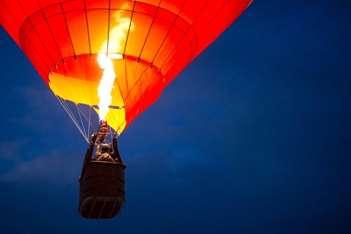 See your world from a different point of view with a hot air balloon ride.