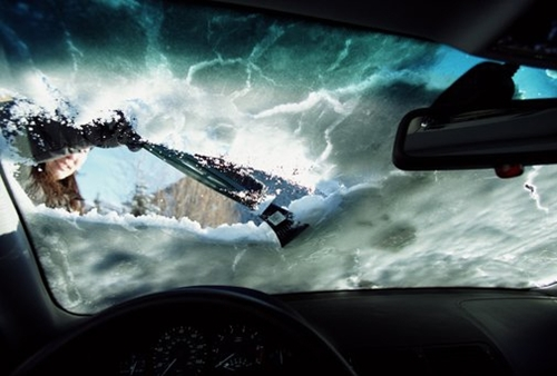 Make sure not to head out without an ice scraper this winter.