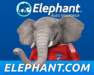 Elephant Auto Insurance partners with fc-dallas