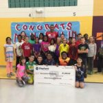 Mooneyham Elementary, thanks to Monasvi 'screativity and soccer spirit, received $1,500 for the school's art program.