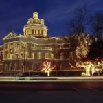 The Marshall Courthouse is a great place to see the holiday lights, one of many in Texas.
