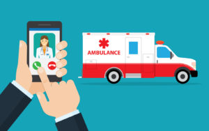 Patients who arrive by ambulance are often treated more quickly than walk-ins, so the decision to call an ambulance rather than driving oneself, can be life-saving.