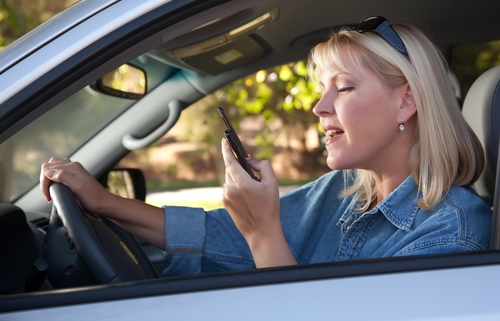 Drivers continue to use their handheld devices while driving, knowing full well they're actions are dangerous.